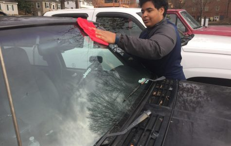 Students enjoy putting their mechanic skills to work in AU parking lot