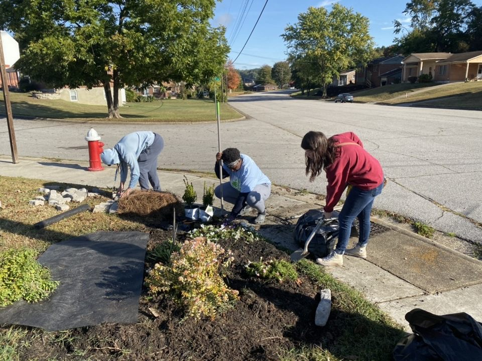 Students participate in Day to Engage at Wesmoreland Neighborhood in Danville, Va. Photo Courtesy of the CCECC.