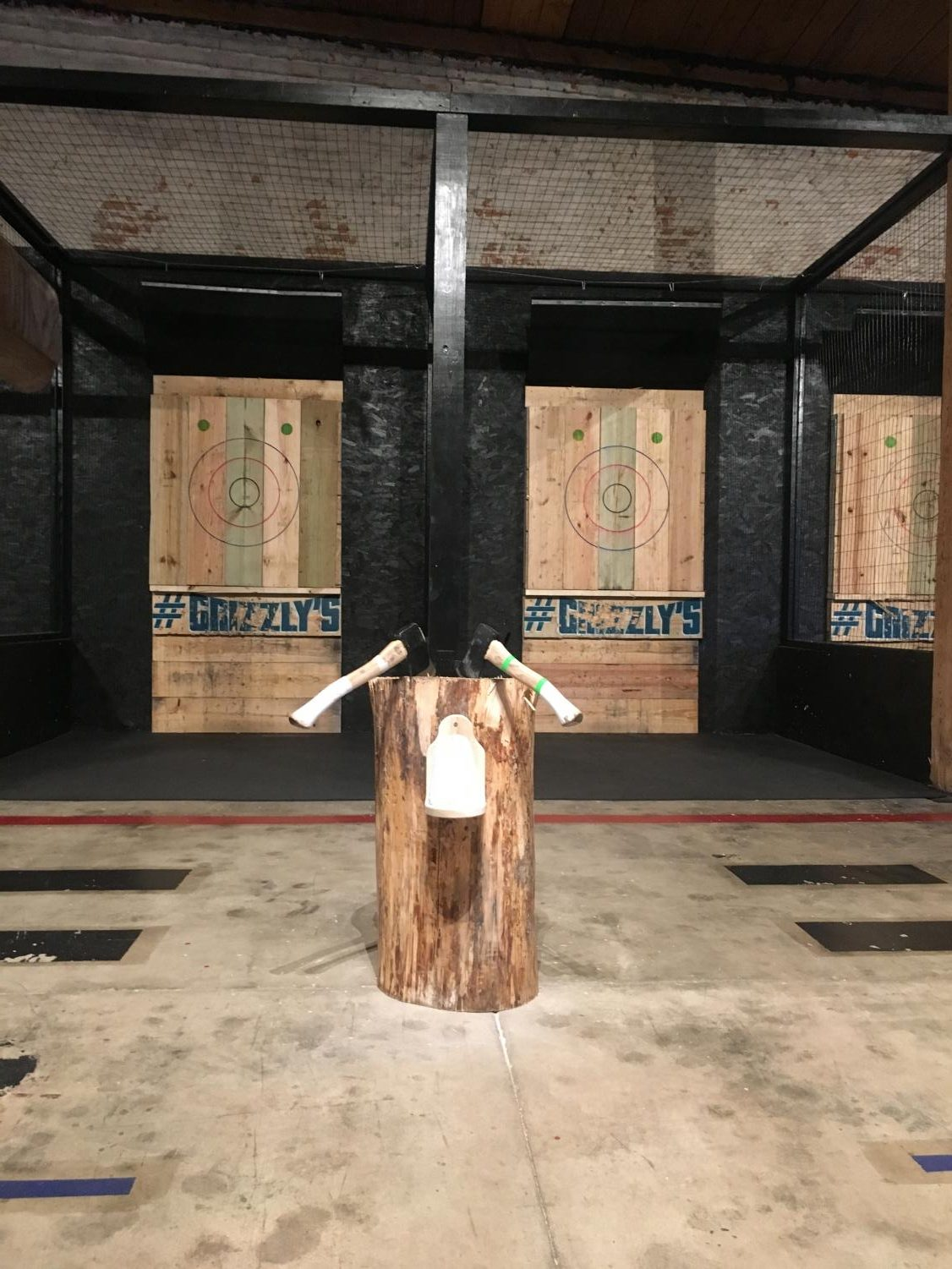 Axe Throwing involves two lanes, similar to bowling.