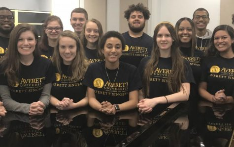 The Averett Singers are practicing for an upcoming concert in March