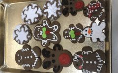Gingerbread cookies I made while watching the competitions.