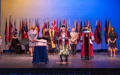 Averett Faculty on stage at Founder's Day 2021