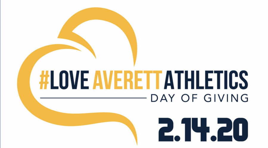 The #LoveAverettAthletics logo of the annual Day of giving 2021