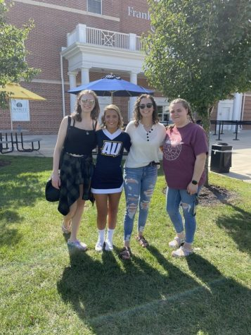 Kappa Delta Alpha sorority members before Kids Day started.