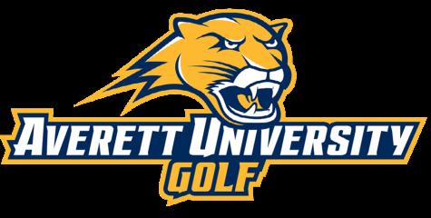 The Averett University Golf logo.